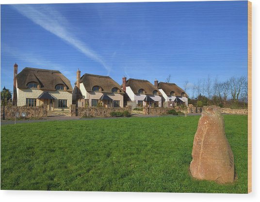A Scheme Of Thatched High Spec Wood Print