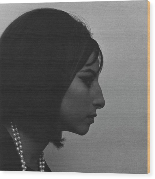 A Side View Of Barbra Streisand Wood Print by Cecil Beaton