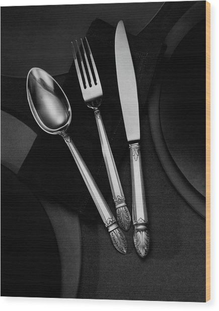 A Silver Spoon Wood Print