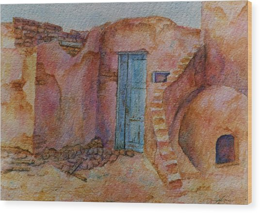 A Small Corner Of Taos Pueblo Wood Print