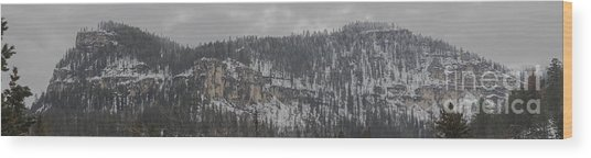 A Snowy Day In Spearfish Canyon Of South Dakota Wood Print