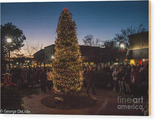 A Southern Pines Christmas 2 Wood Print