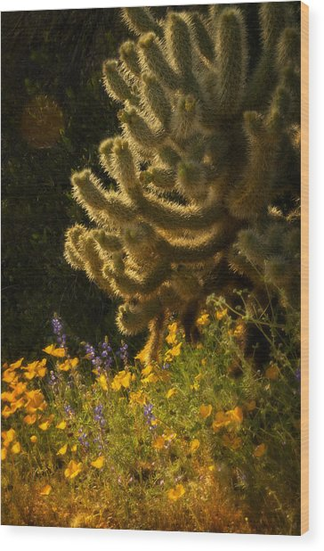 A Southwestern Spring  Wood Print