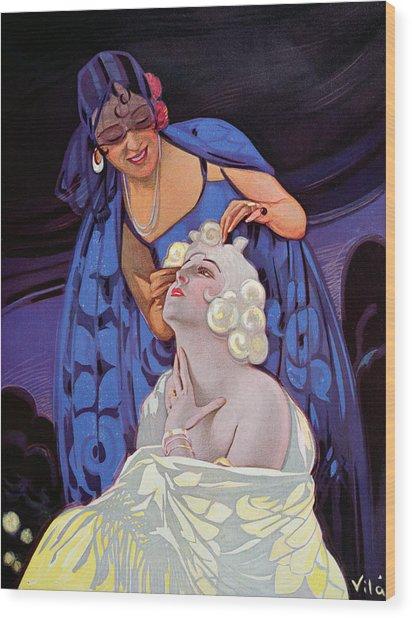 A Spanish Hairdresser Wood Print