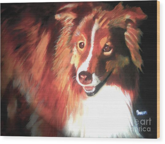 A Special Friend Wood Print by Sharon Burger