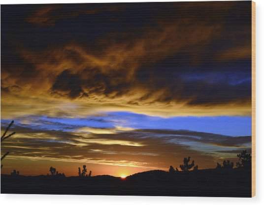 A Spectacular Sunrise Wood Print