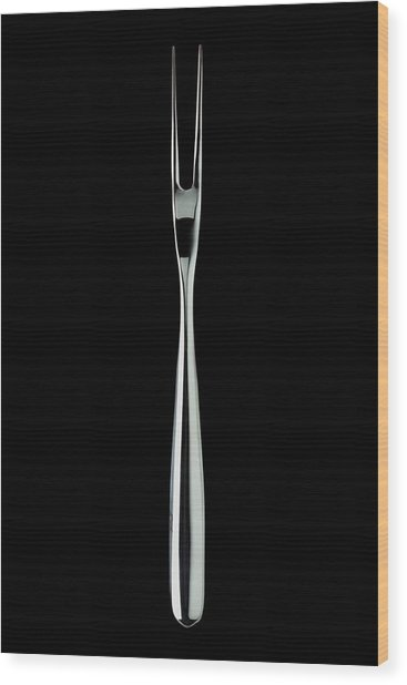 A Stainless Steel Fork Wood Print