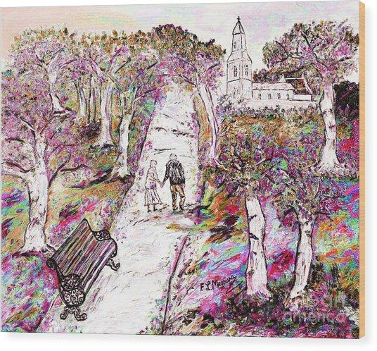 A Stroll In Autumn Wood Print