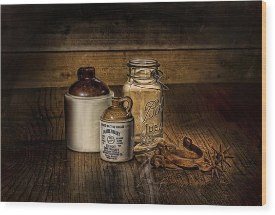 A Study In Brown Wood Print by Leah McDaniel