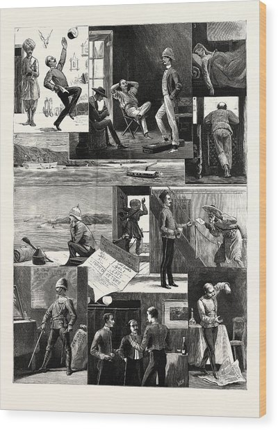 A Subalterns Experiences During The Recent Russian War Wood Print by English School