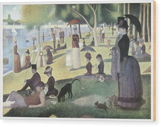 A Sunday Afternoon On The Island Of La Grande Jatte Wood Print by George-Pierre Seurat