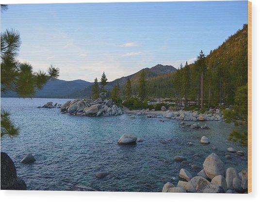 Just Before Sunset At Lake Tahoe Wood Print