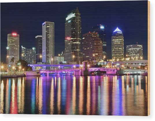 A Tampa Bay Night Wood Print