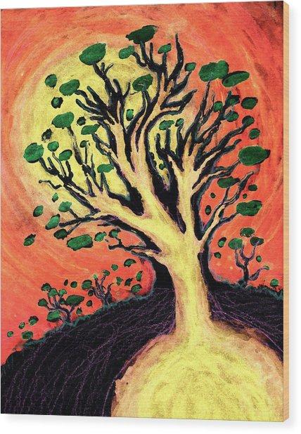 A Tree Is Born Wood Print by David Condry