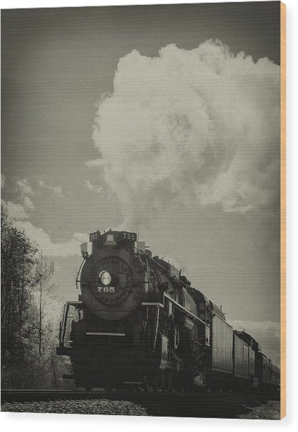 A Trip In The Past-the 765 Steam Locomotive Wood Print