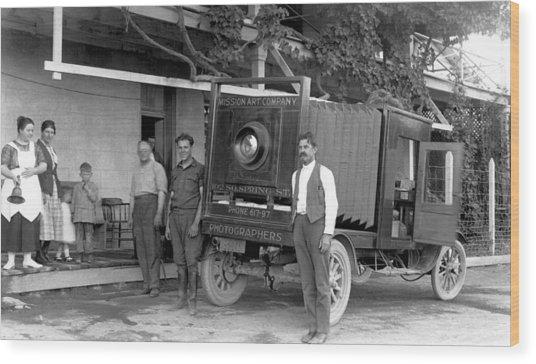 A Truck Camera Wood Print