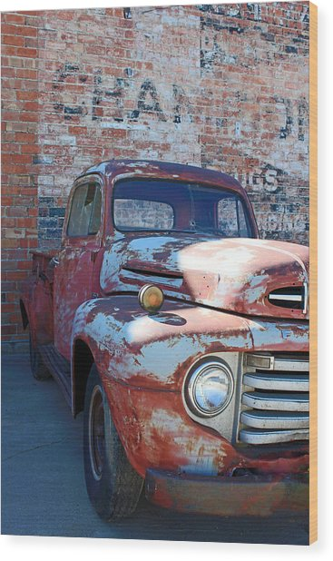 A Truck In Goodland Wood Print