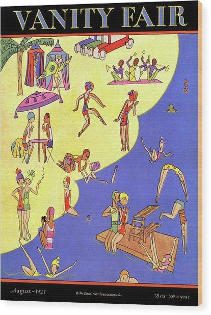 A Vanity Fair Cover Of Beach Goers Wood Print