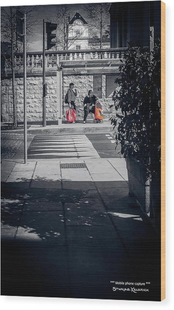 Wood Print featuring the photograph A Very Long Waiting Day by Stwayne Keubrick