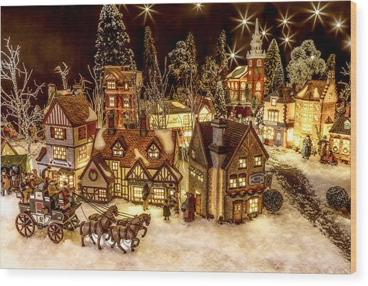 A Very Merry Christmas Wood Print