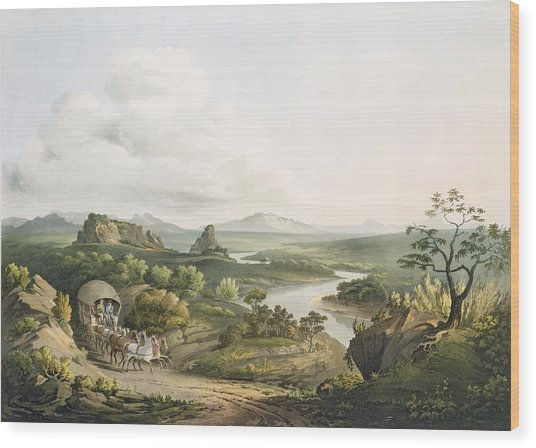 A View Near The Roode Sand Pass Wood Print