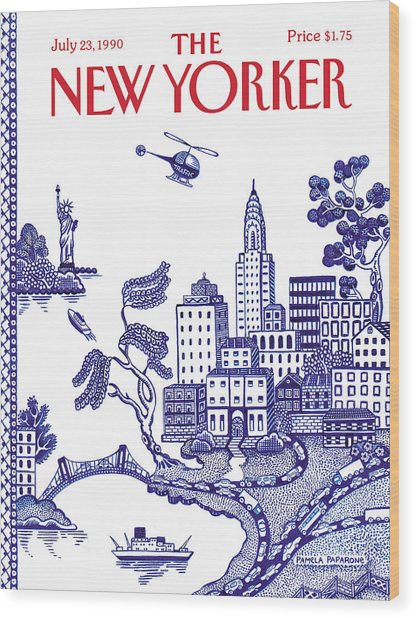 A View Of New York City Wood Print