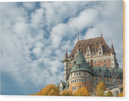 A View Of The Chateau Frontenac, Quebec Wood Print by Ellen Rooney / Robertharding