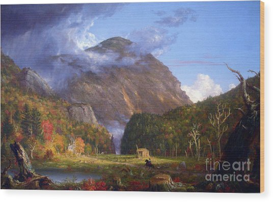 A View Of The Mountain Pass Called The Notch Of The White Mountans By Thomas Cole Wood Print