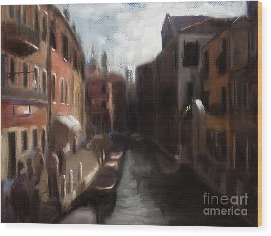 A View Of Venice Wood Print