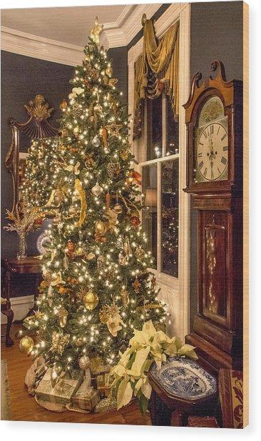 A Vintage Christmas Wood Print