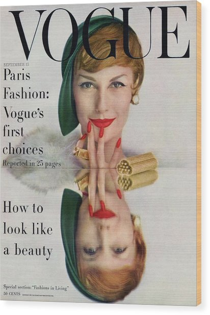 A Vogue Cover Of Mary Jane Russell Wood Print