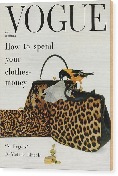 A Vogue Cover Of Nettie Rosenstein Handbags Wood Print