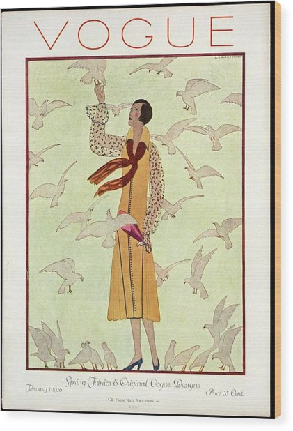A Vogue Magazine Cover From 1926 Wood Print