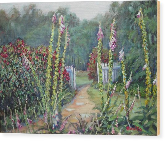 A Walk Into The Garden Wood Print
