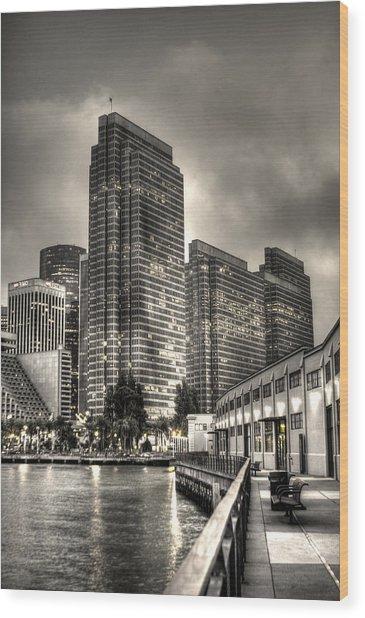 A Walk On The Embarcadero Waterfront Wood Print