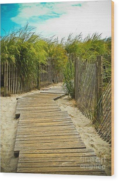 A Walk To The Beach Wood Print