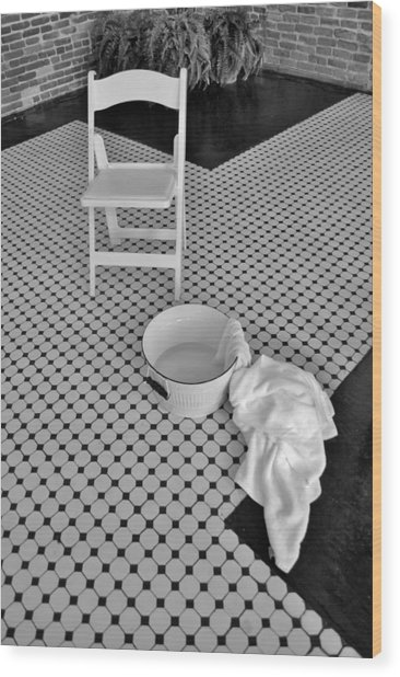 A Washing Of The Feet Wood Print