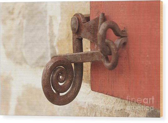 A Window Latch Wood Print