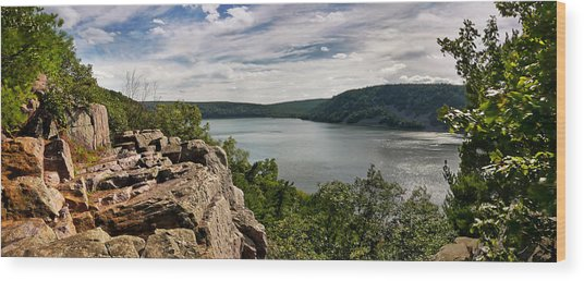 A Windy Day At Devil's Lake Wood Print