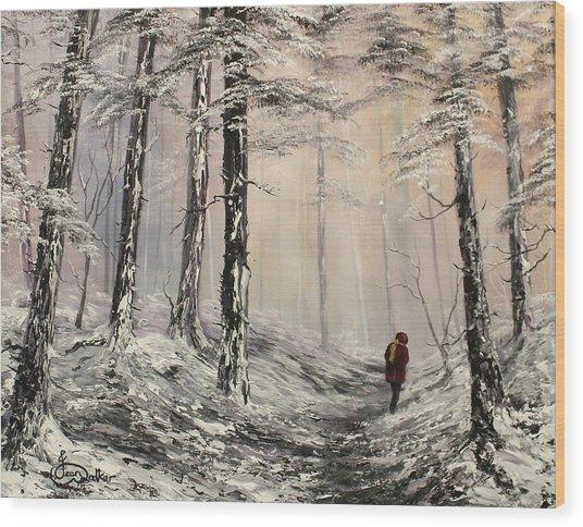 A Winter Walk Wood Print