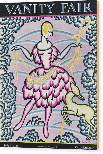 A Woman And A Animal Wood Print by O'Kane Conwell