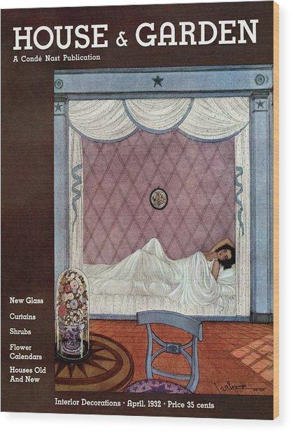 A Woman Sleeping In A Beidmeyer Wood Print