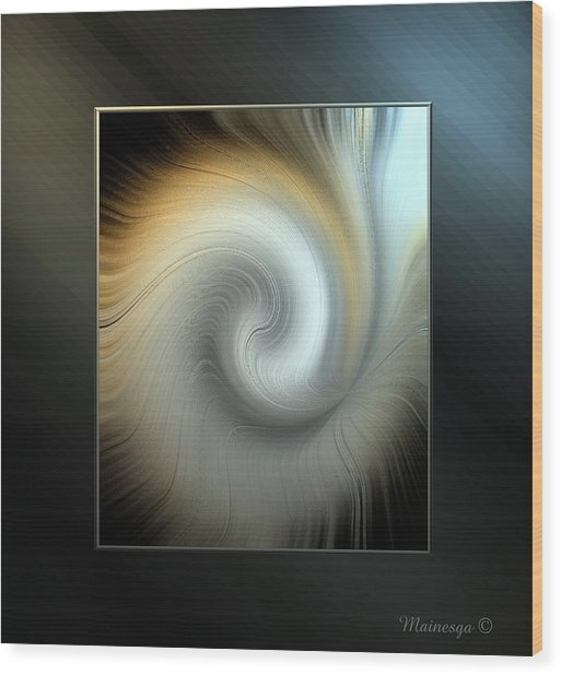 Ab-swirl Wood Print