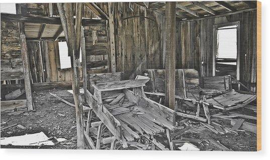 Abandon Barn Wood Print by Richard Balison