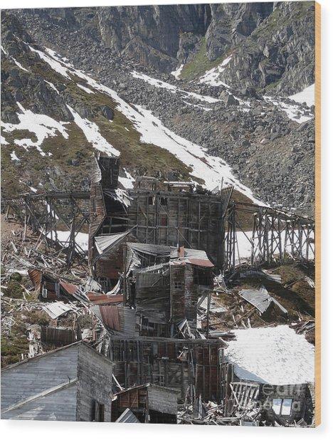 Abandoned Alaskan Gold Mine Wood Print
