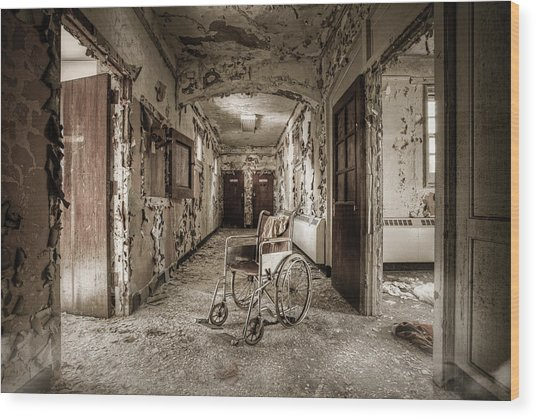 Abandoned Asylums - What Has Become Wood Print