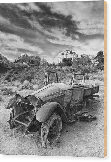 Abandoned Car Wood Print