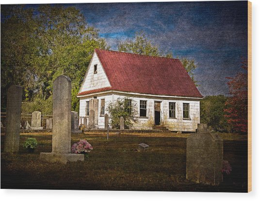 Abandoned Church And Graves Wood Print