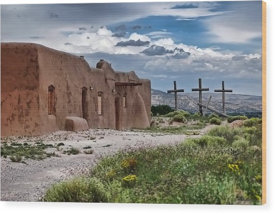 Abandoned Church In Abiquiu New Mexico Wood Print
