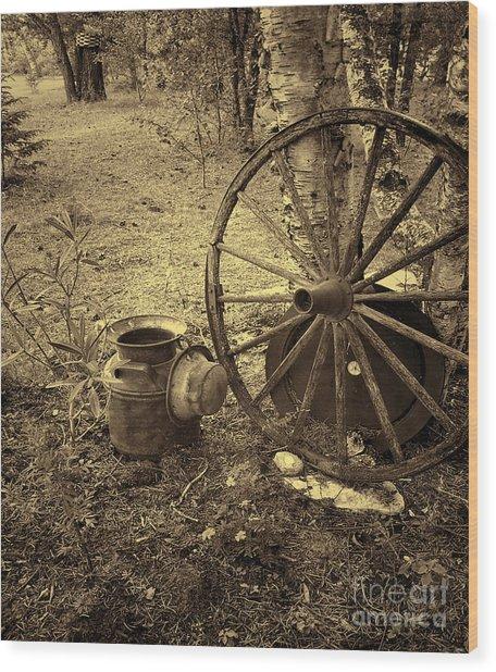 Abandoned - Antique Vintage Wood Print